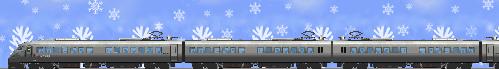 雪と787系特急イラスト