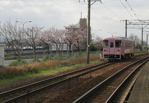 甘木鉄道桜基山