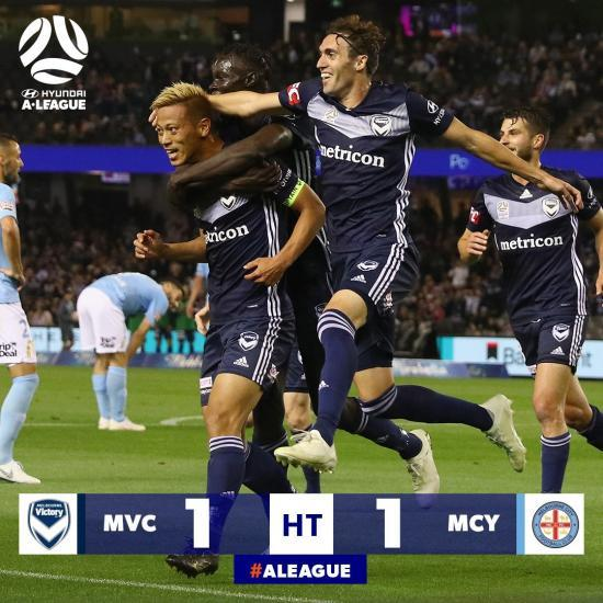 Keisuke Honda first goal for Melbourne Victory vs Melbourne City