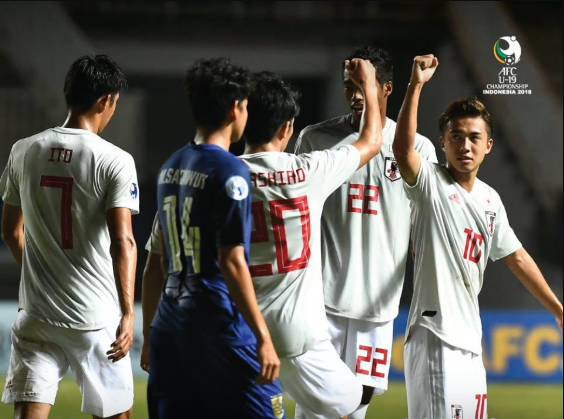 Defending champions Japan are the first team to seal their place in the AFCU19 quarter-finals 2019