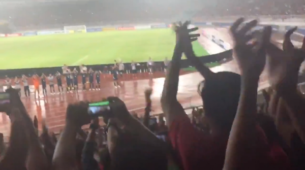U19 Japan national team paid tribute to the supporters of Indonesia