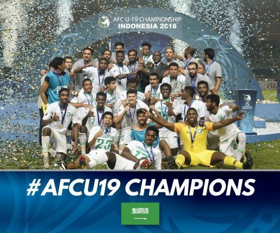 AFCU19 champions Saudi Arabia 2019