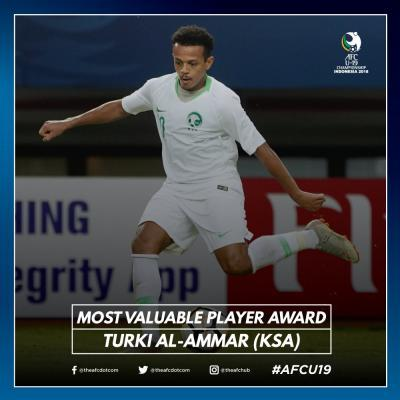AFCU19 Most Valuable Player award Turki Al-Ammar