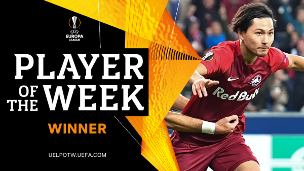 Minamino Takumi wins Europa League Player of the Week