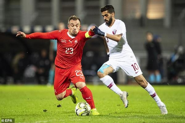 Liverpool star Xherdan Shaqiri came off the bench in the second half of the friendly match