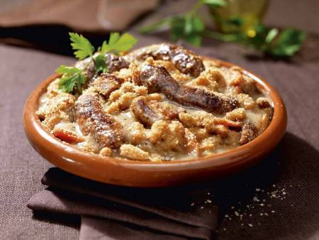 Cassoulet Gimontois With Grilled Toulouse Sausages