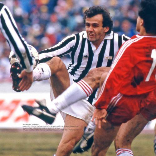 Juventus Michel Platini in the 1985 TOYOTA CUP