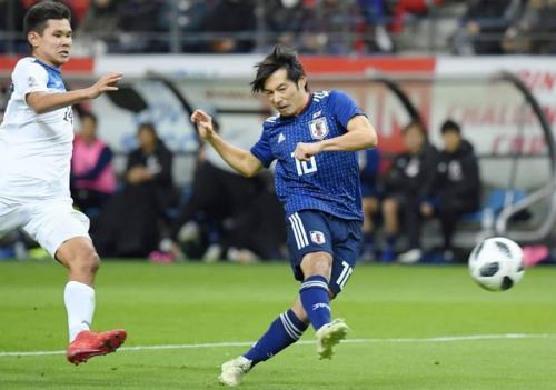Japan 4-0 Kyrgyzstan Shoya Nakajima goal