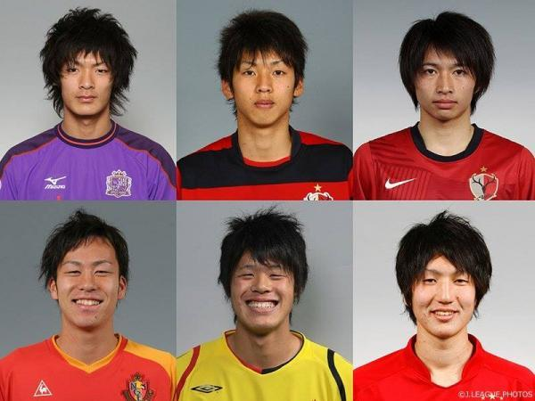 Players from the current Japanese team early in the career