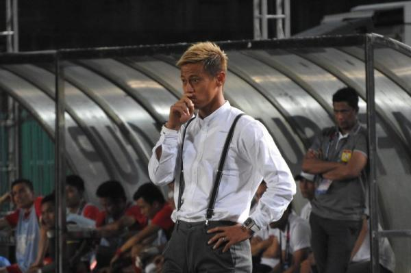 Keisuke Honda has his first win as a manager Cambodia 3_1 Laos