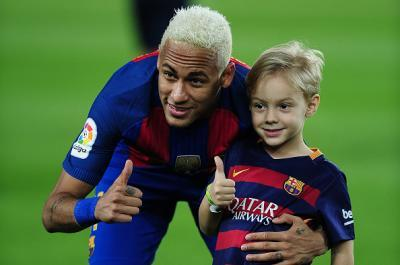 Neymar and his son, Davi Lucca