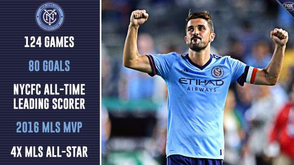David Villa is leaving NYCFC for Japan after 4 spectacular years