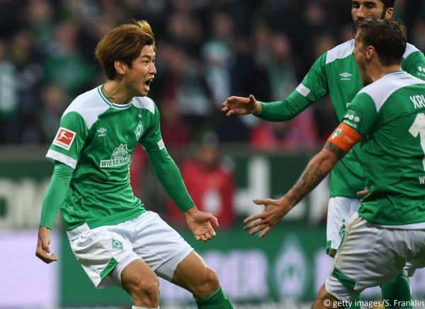 Bremen [1]-1 Bayern - Yuya Osako goal