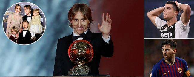 End of an era Modric crowned worlds best player at Ballon dOr awards