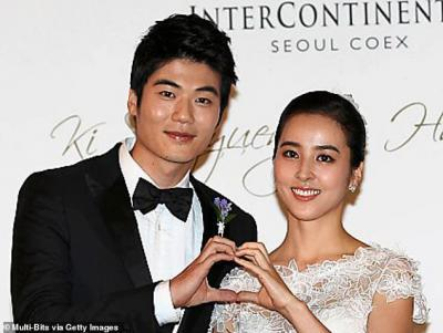 Ki is married to Korean actress Han Hye jin