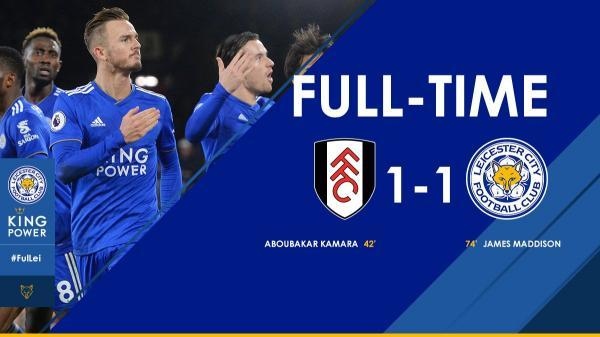 The Foxes take a point home with them thanks to @Madders10s second half strike okazaki assists