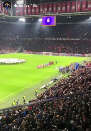 Ritsu Doan watched AJABAY from a skybox in the Johan Cruijff ArenA