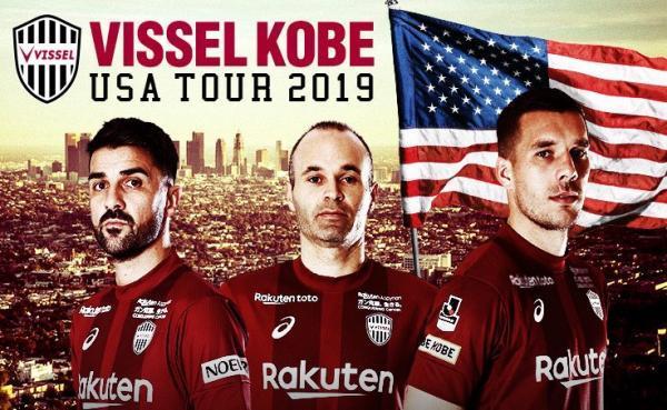 Vissel Kobe (Iniesta, Villa, Podolski) Announces 2019 USA Pre-Season Tour