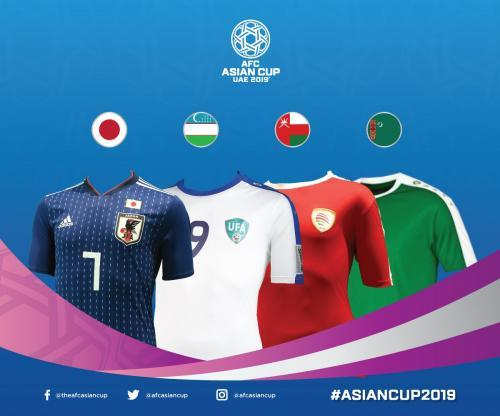 AsianCup2019 national kits for Group F