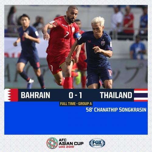 Bahrain 0-1 Thailand Chanathip Songkrasin goal AFC Asian Cup
