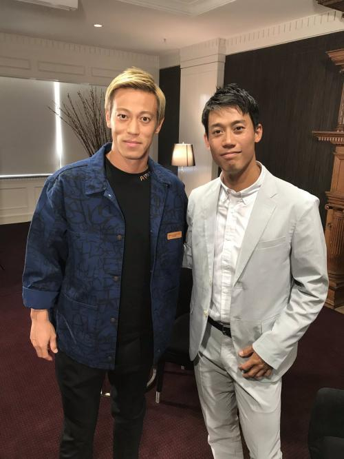 Kei Nishikori and Keisuke Honda