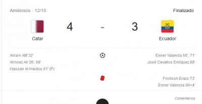 qatar 4-3 ecuador