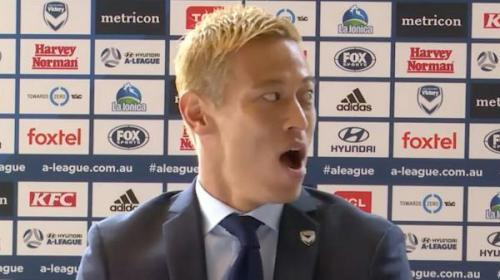 Keisuke Honda having a bit of trouble with the language barrier