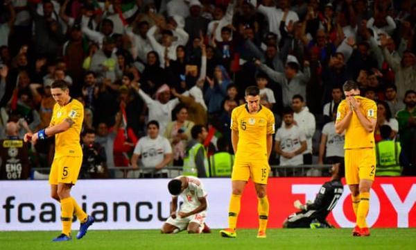 Australia out of Asian Cup as UAE pounce on Milos Degenek error