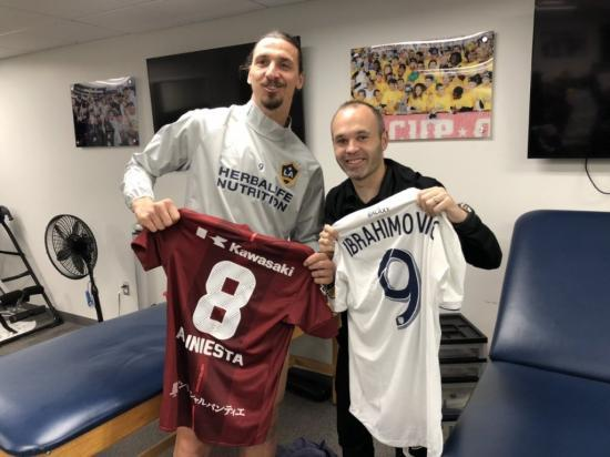 iniesta and Zlatan Ibrahimovic