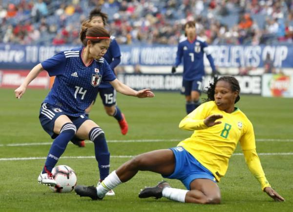 Japan beat Brazil 3-1 at the 2019 SheBelievesCup