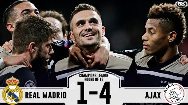 Real Madrid 1-4 Ajax (3-5 aggregate)