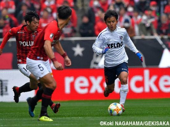 Takefusa Kubo against Urawa reds pre assist