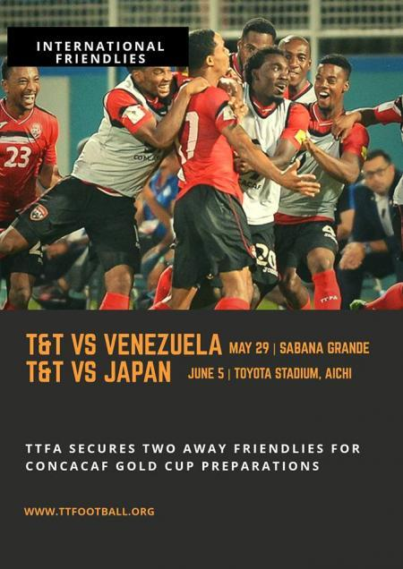 trinidad and tobago to play japan and venezuela