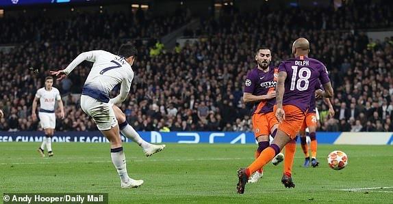 Tottenham [1]-0 Manchester City Son goal
