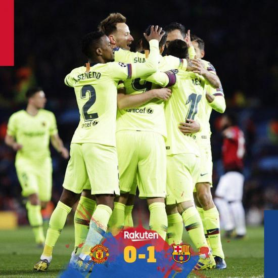 Manchester United 0-1 Barcelona take lead back to Spain courtesy of Luke Shaw own goal