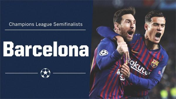 Lionel Messi scores twice and Philippe Coutinho adds another as Barcelona confirm their spot in the semifinals