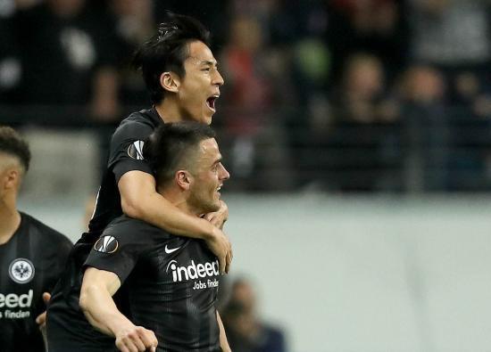 Hasebe Eintracht Frankfurt 2-0 SL Benfica UEFA Europa League Quarterfinals