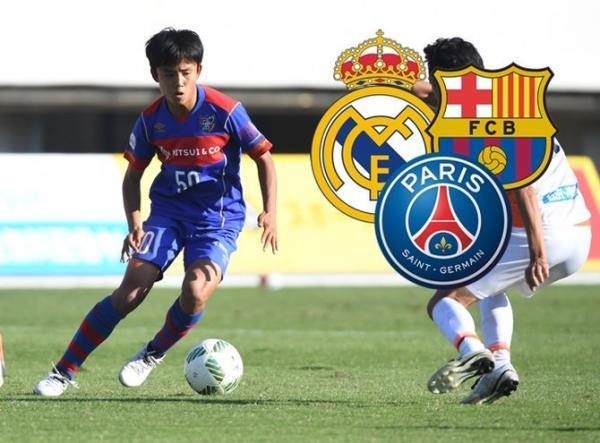 Real Madrid and PSG aiming to snatch Japanese wonder kid Takefusa Kubo off Barcelona