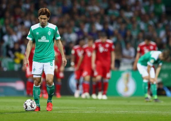 Bremen [1]-2 Bayern Yuya Osako goal