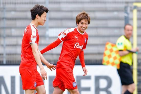 Sandhausen 2 goals Kiel Masaya Okugawa
