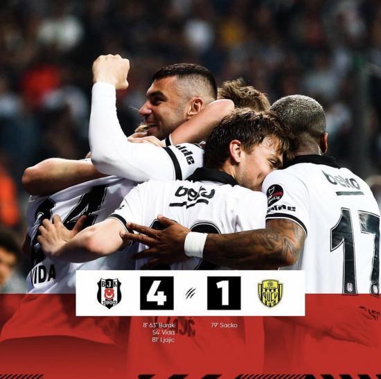 Besiktas 4-1 Ankaragucu Adem Ljajic kagawa assists