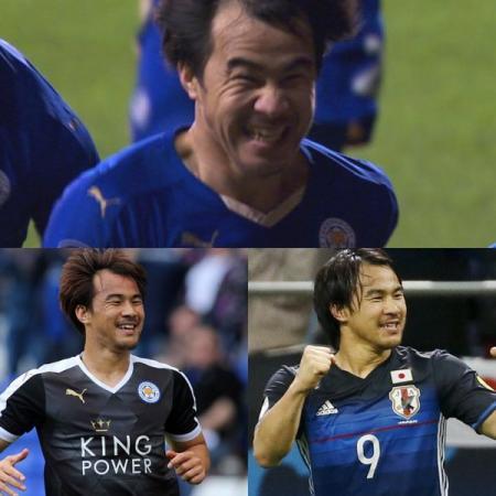 okazaki shinji smiles at Leicester City