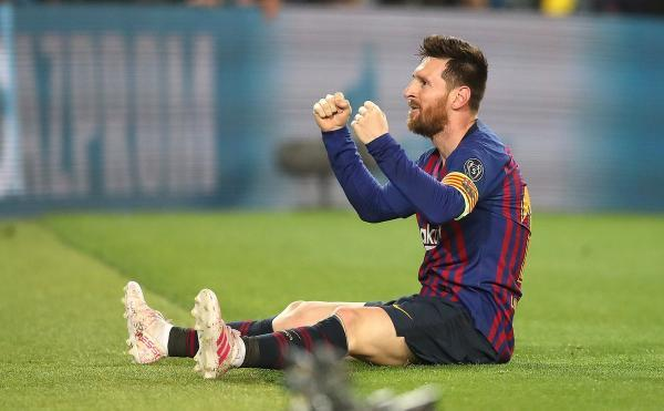 Lionel Messi scores his 600th Barcelona goals