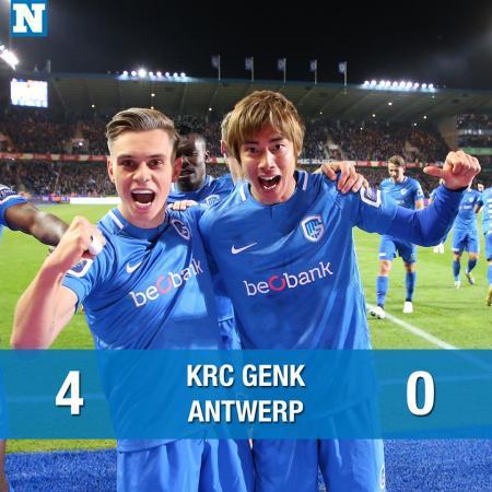 Genk 4 _0 Royal Antwerp ito junya goal