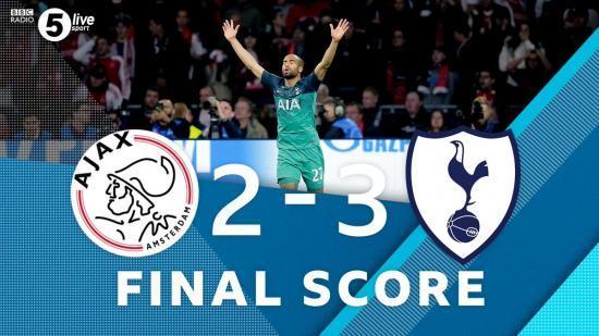 Ajax 2-[3] Tottenham Lucas