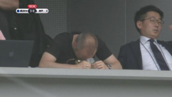 iniesta watching vissel kobe thrashed