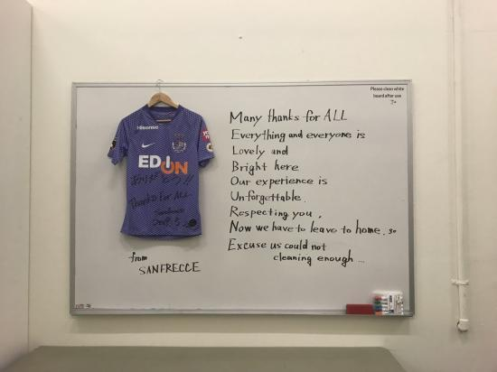 Sanfrecce Hiroshima left a message at Melbourne
