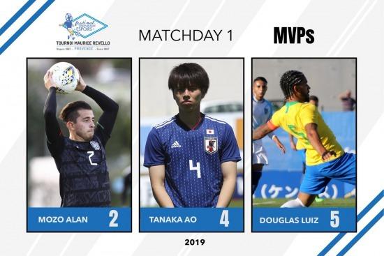 The first day MVPs Tournoi Maurice Revello Tanaka Ao