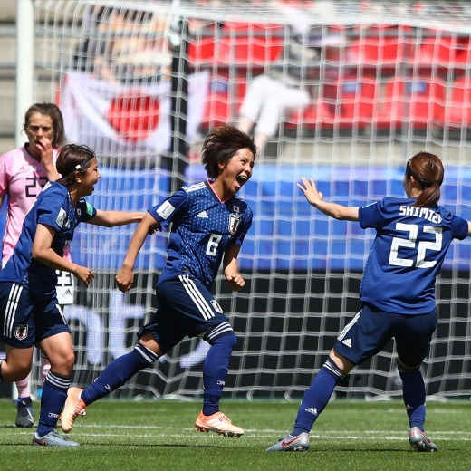 Japan W 2-0 Scotland W Iwabuchi goal