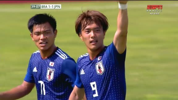 Brazil 1_1 Japan (Ogawa Koki goal) Toulon Tournament final